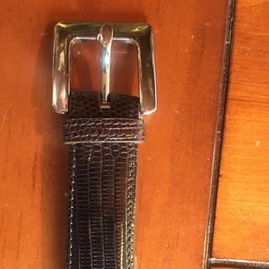 Vintage COACH lizard skin ladies belt